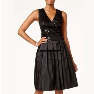 NEW SL Fashions Taffeta Dress w/Sequins SZ-12